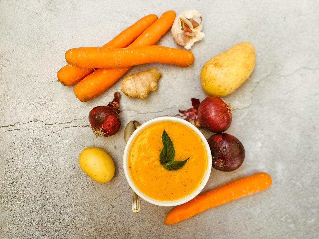 Karottensuppe von Anfang an